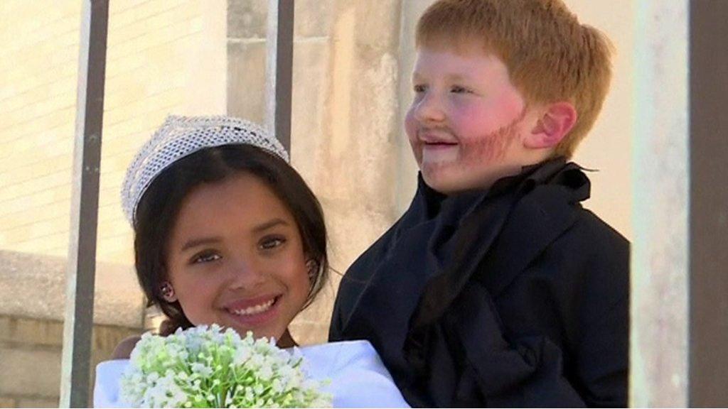 Kids recreate Meghan and Harry's royal wedding