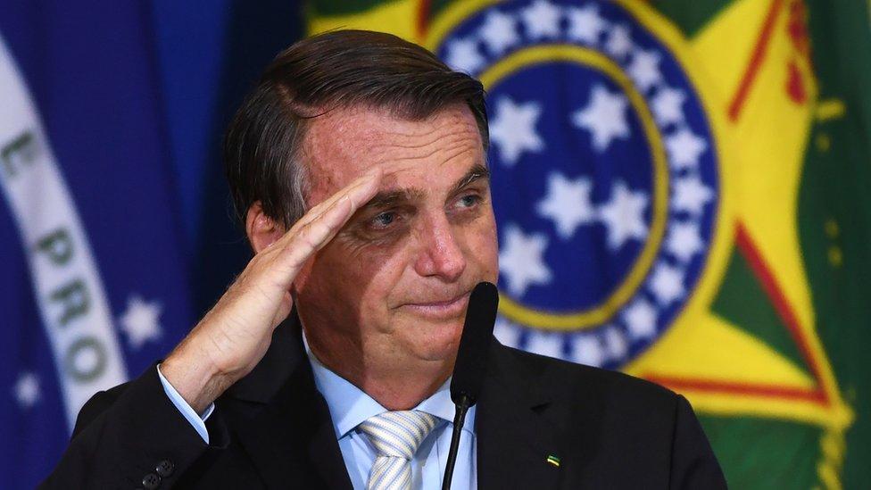 Presidente brasileño, Jair Bolsonaro.