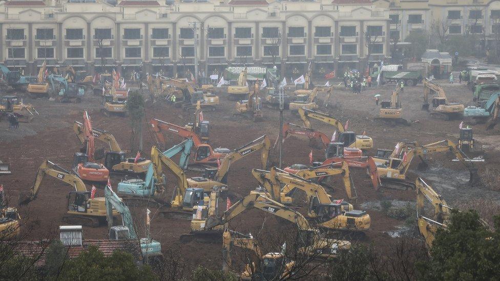 Izgradnja bolnice u Vuhanu