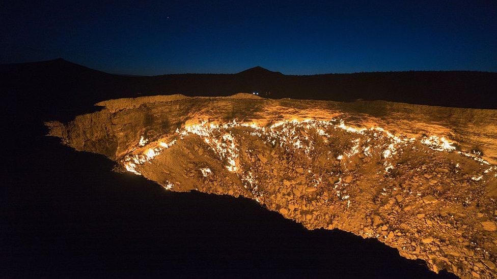 El cráter Darvaza