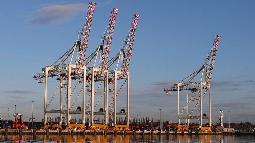 Dock cranes in Southampton