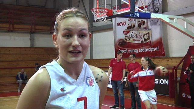 Serbian basketball player Natasa Kovacevic returns after amputation