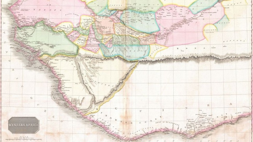 Mapa de África Occidental de 1818