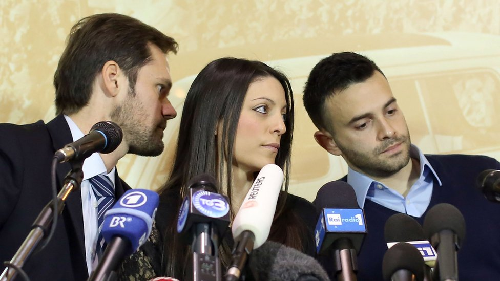 Meredith Kercher's brother and sister with their lawyer