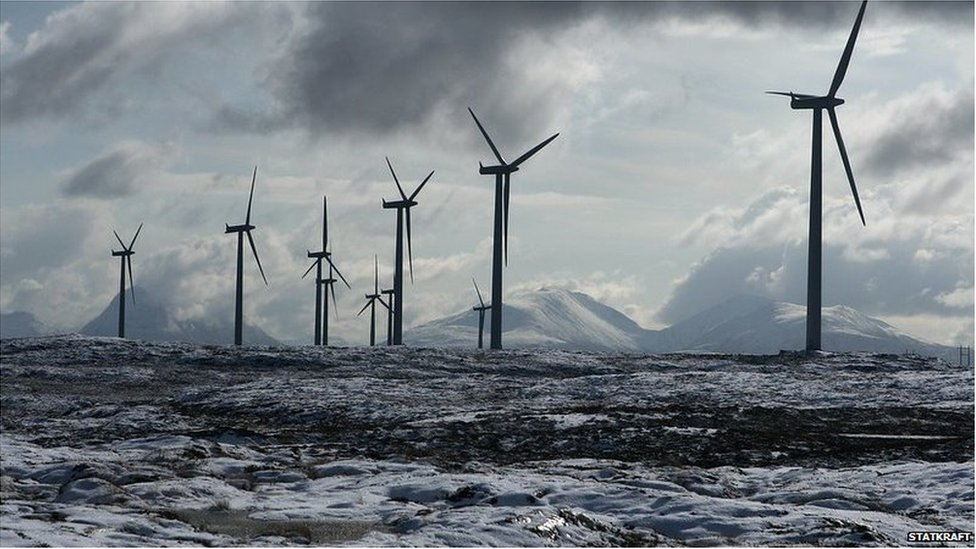 Turbines at the Smola windfarm, Norway (Image: Statkraft)