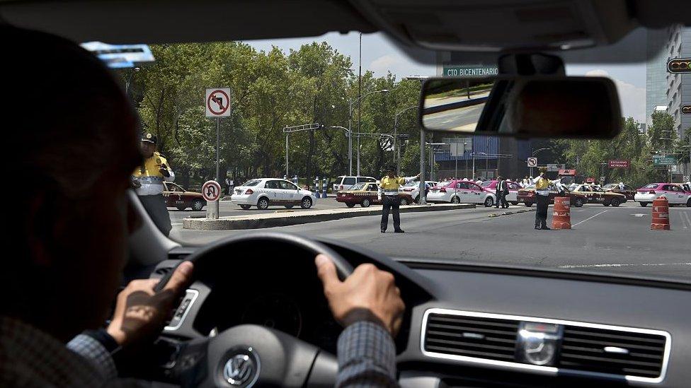 Un conductor de Uber en Ciudad de México