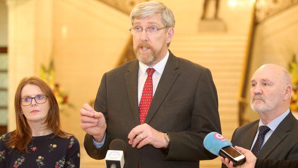 John O'Dowd with Sinn Féin colleagues