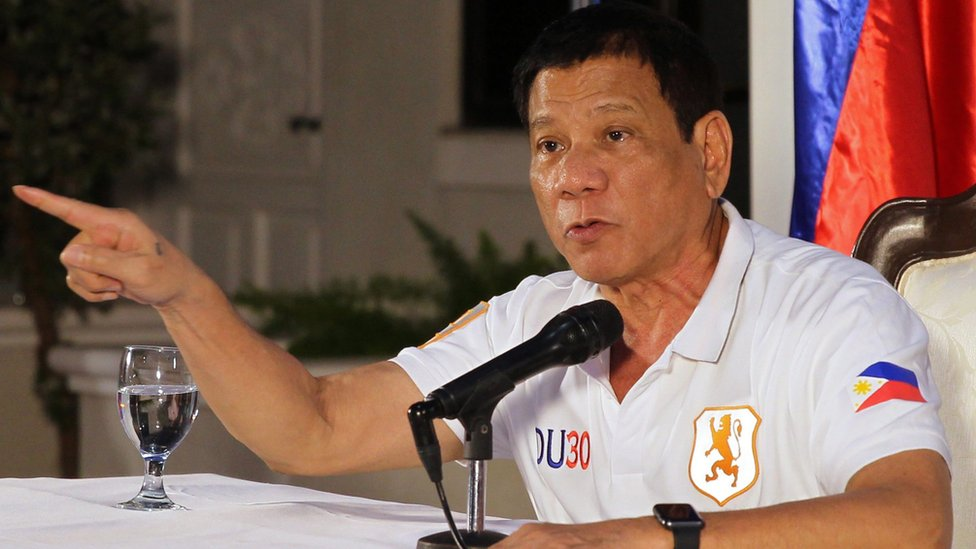 Philippine President Rodrigo Duterte pictured in August