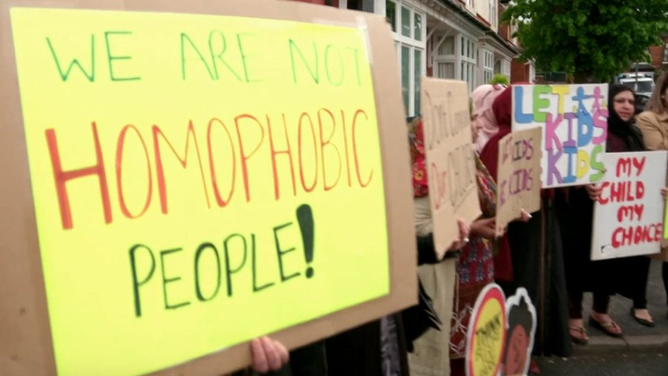 LGBT school lessons protests spread nationwide