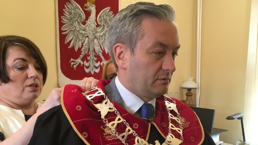 The gay mayor shaking up politics in Catholic Poland