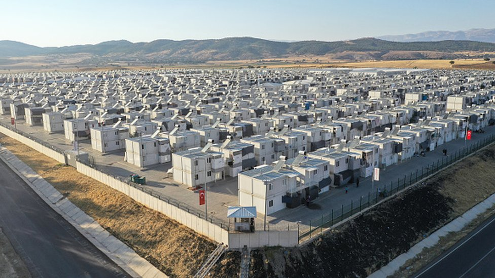 A general view of the Kahramanmaras refugee camp