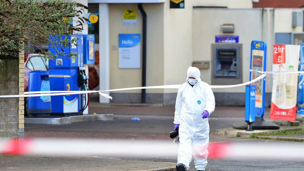 Forensic officer at the scene