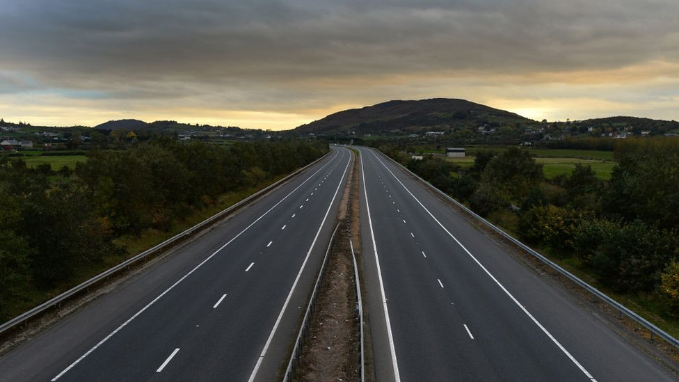 Image of the Belfast to Dublin motorway