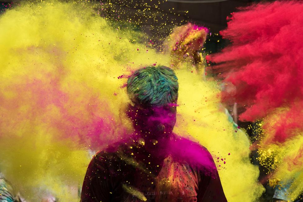 مهرجان هولي الهندوسي السنوي في مدينة جودبور الهندية