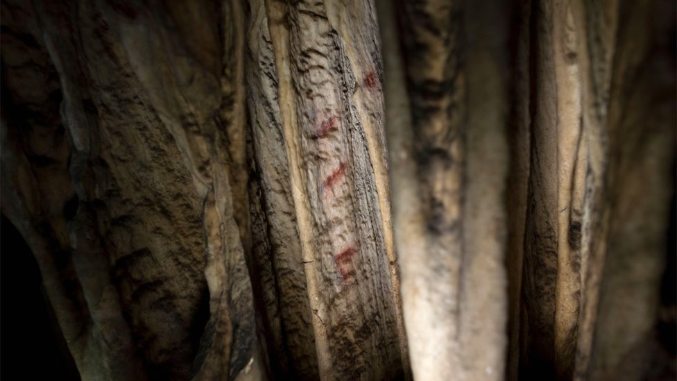 The cave-paintings found in three caves in Spain, one of them in Ardales, were created between 43,000 and 65,000 years ago, 20,000 years before modern humans arrived in Europe