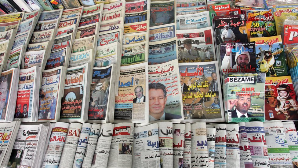 A newsstand in Morocco