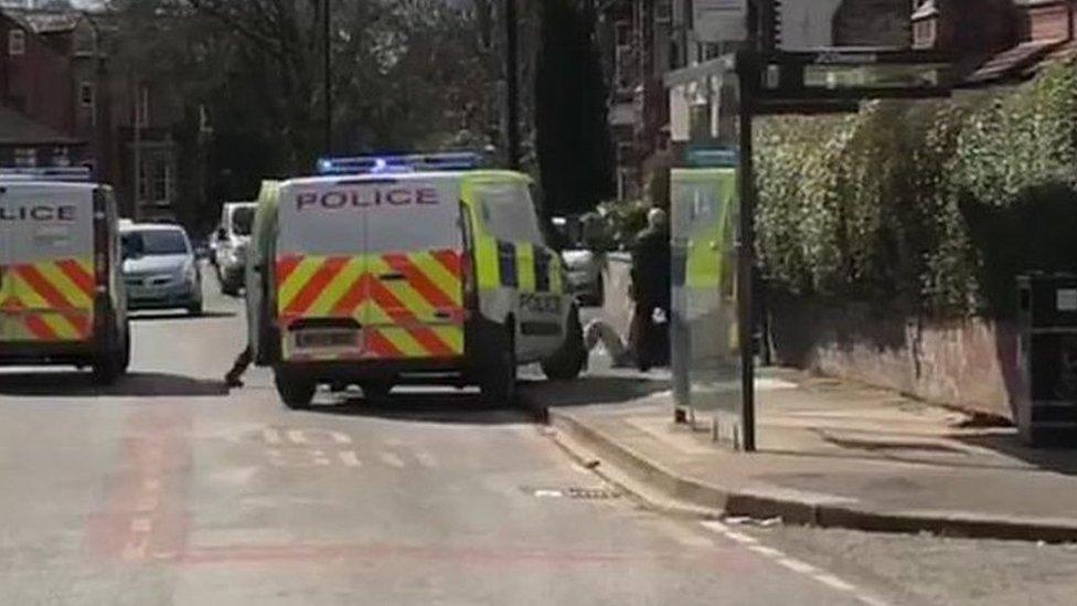 Sword attack on police officer