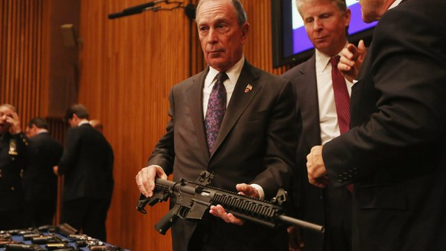 """Bloomberg: """"In fairness to the president, he is trying"""" on gun control"""