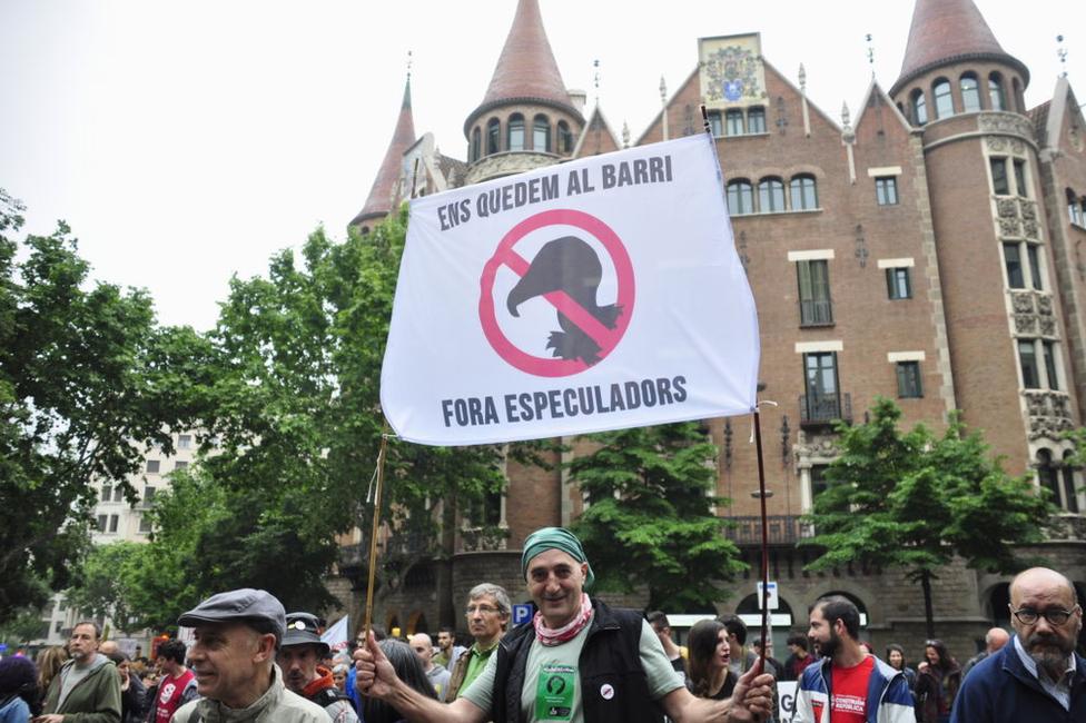 Protesta en Barcelona en 2012