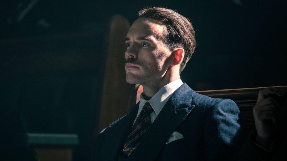 Sam Claflin as Oswald Mosley in Peaky Blinders