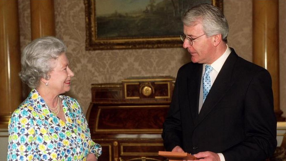 The Queen and John Major