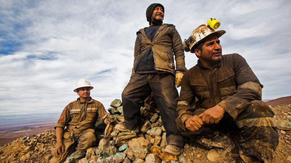 Mineros chilenos.