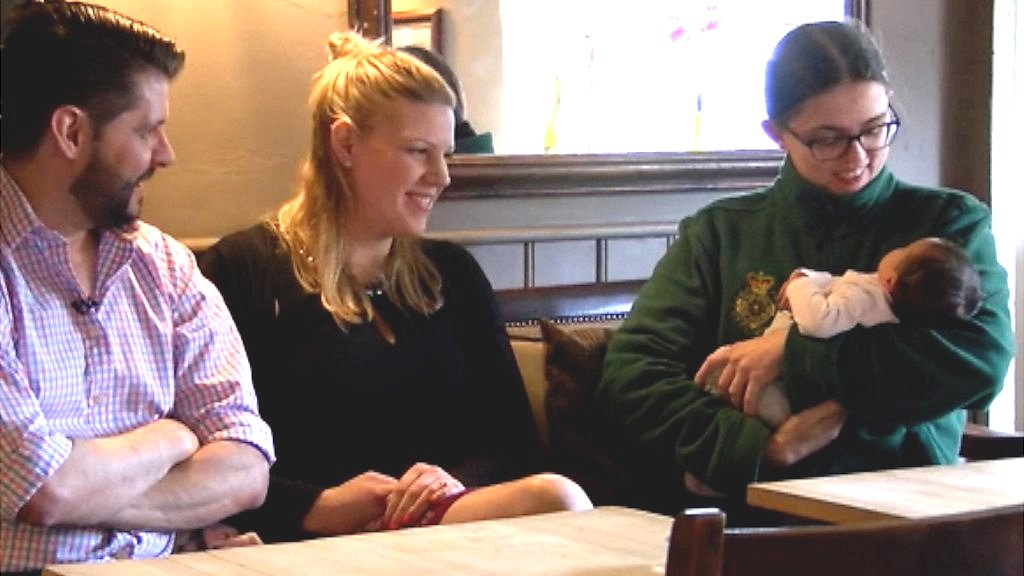 Dad delivers own baby in Oxfordshire pub