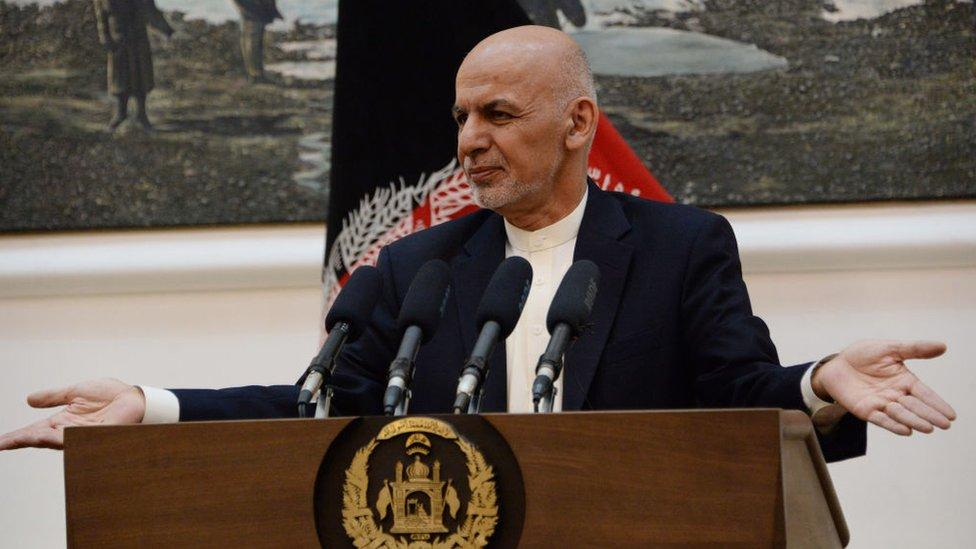 El presidente de Afganistán, Ashraf Ghani.