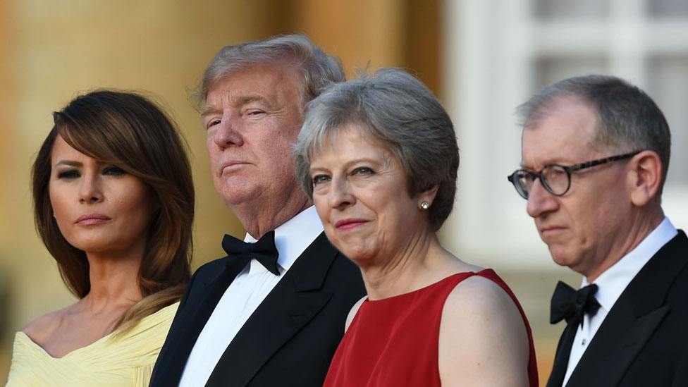 Melania Trump, Donald Trump, Theresa May and Philip May