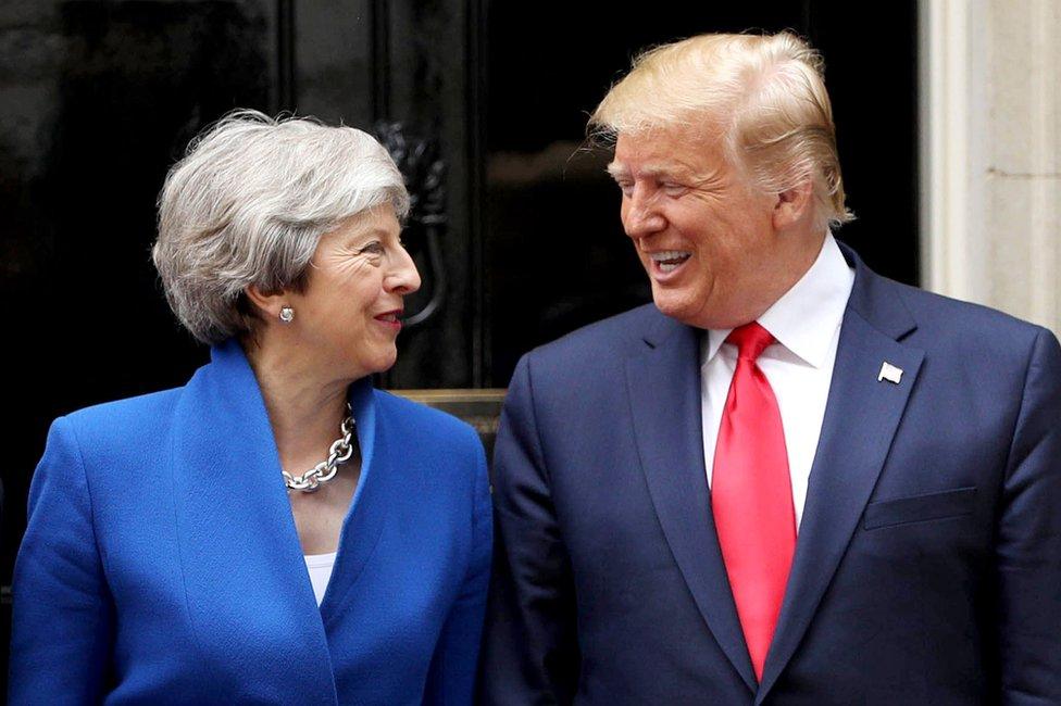 Tereza Mej i Donald Tramp