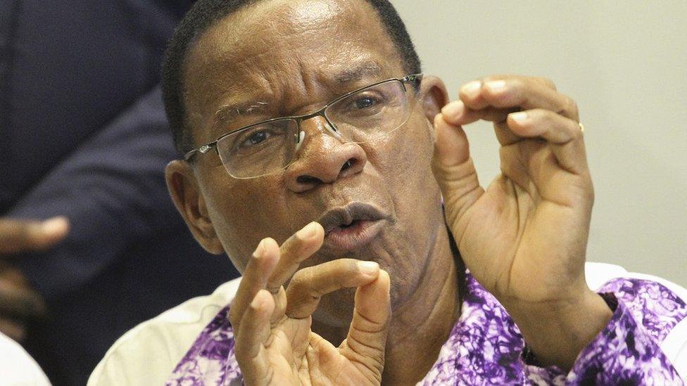 "Tanzanian opposition party ACT-Wazalendo""s presidential candidate Bernard Membe"