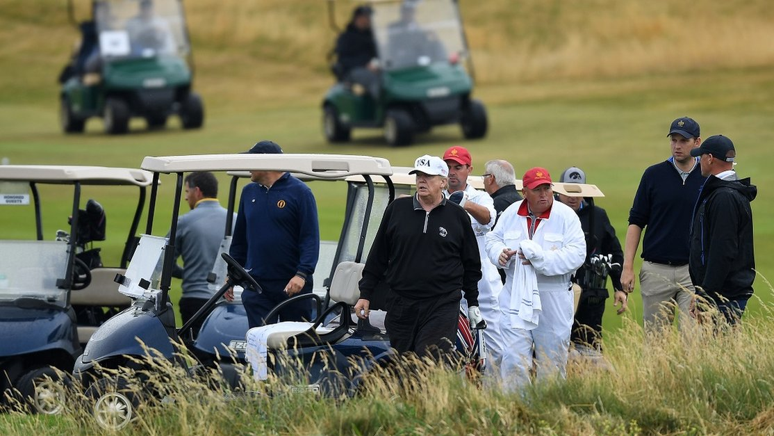 Secret Service agent suffers stroke at Turnberry resort