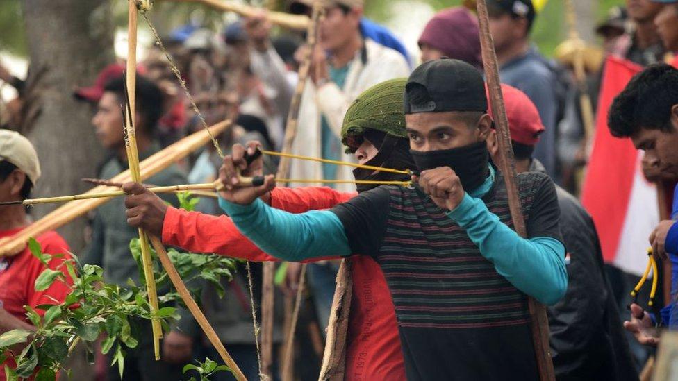 manifestantes en Asunción