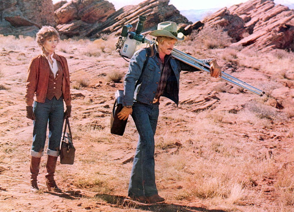 Jane Fonda and Robert Redford in The Electric Horseman, 1979