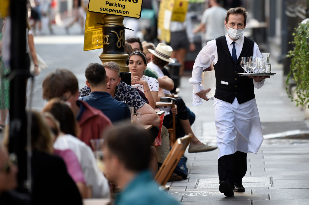 waiter in Soho