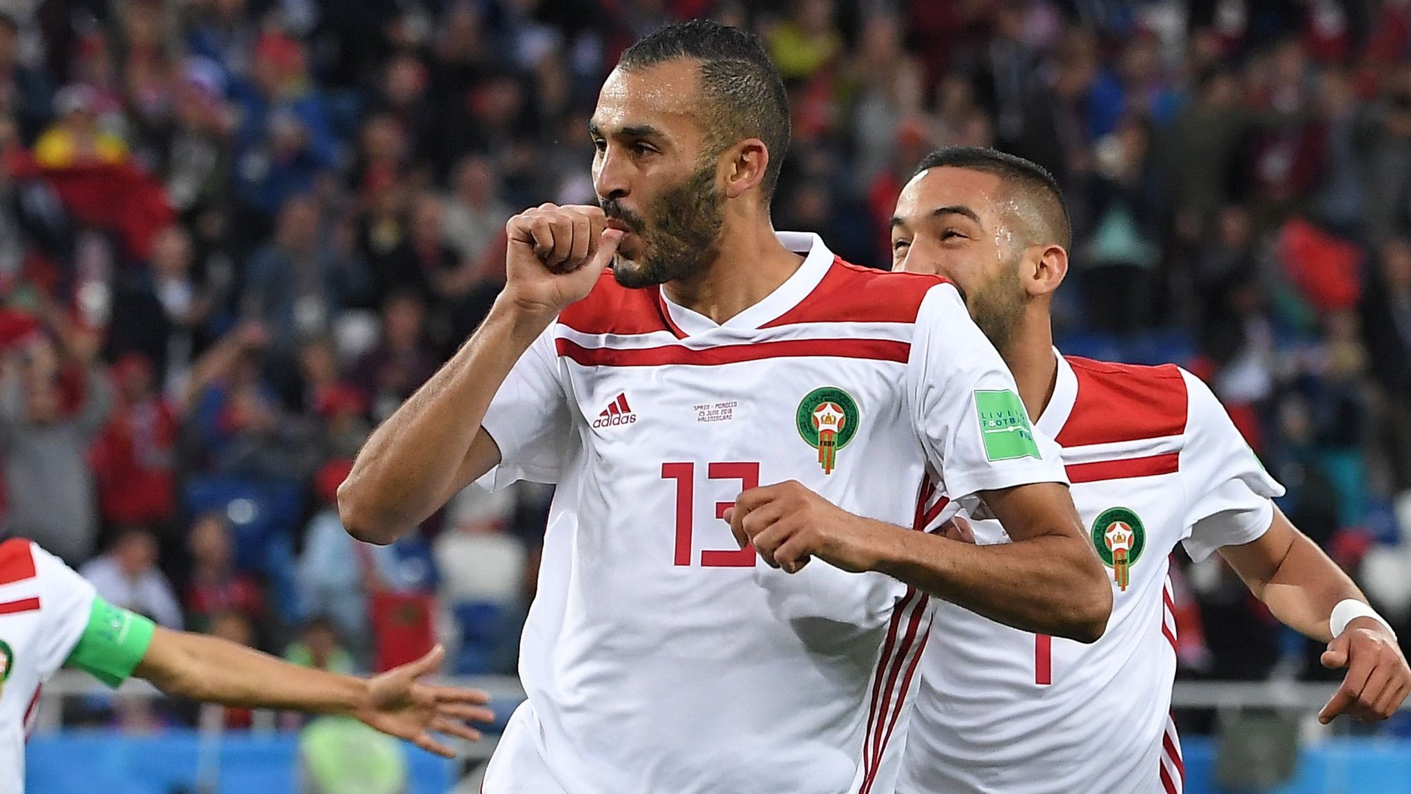 World Cup 2018: Khalid Boutaib gives Morocco shock lead over Spain