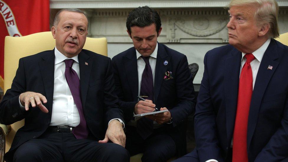 Cumhurbaşkanı Erdoğan'ın Beyaz Saray'da ABD Başkanı Donald Trump ile