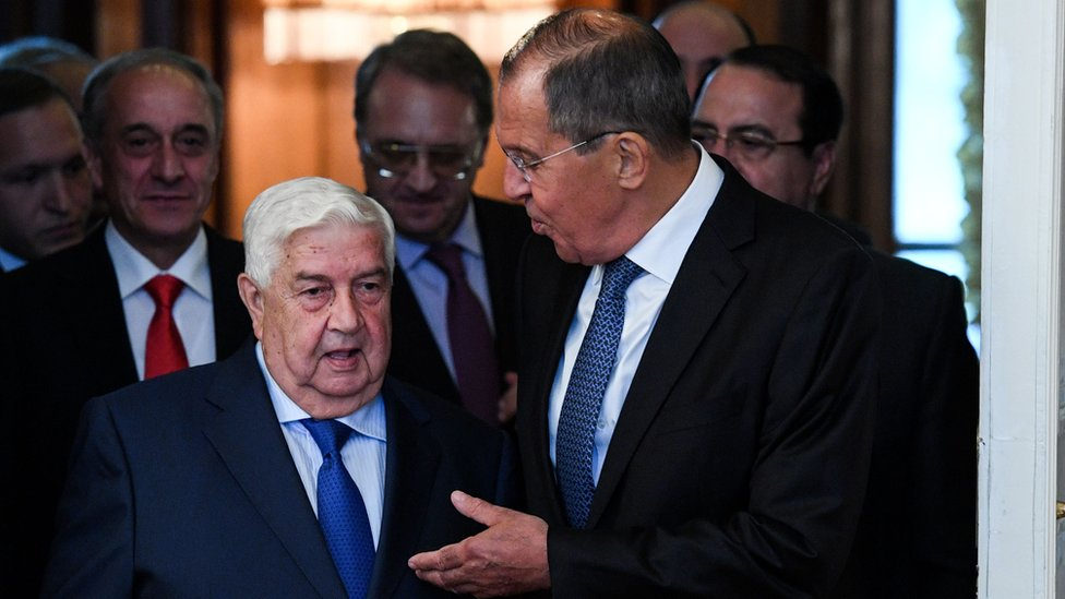 Ruski ministar spoljnih poslova Sergej Lavrov sa sirijskim kolegom Validom Mualemom u Moskvi