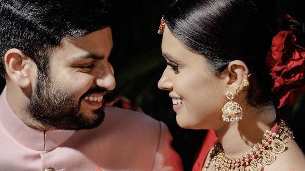 Martina Roy and Zain Anwar at their wedding