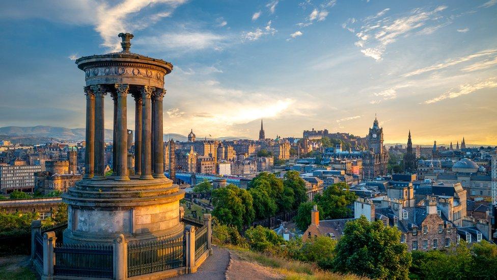 A view over Edinburgh