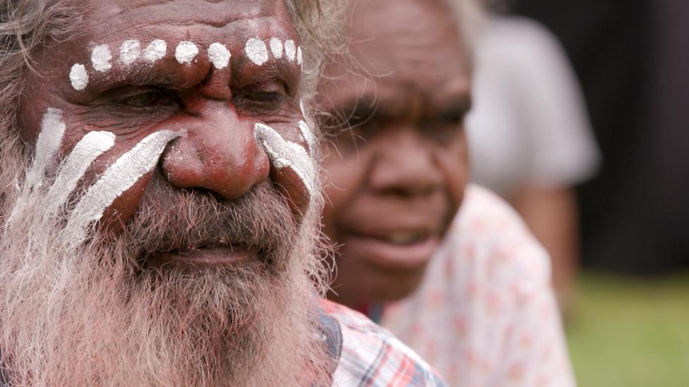 Anangu elder during a welcome ceremony