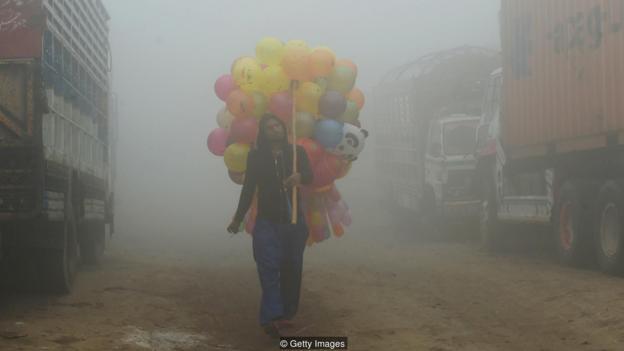 Lahore, en Pakistán, con mucha contaminación.