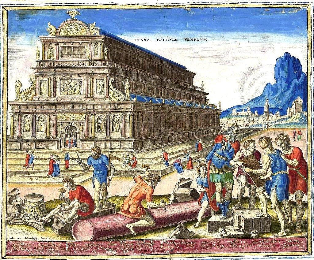 El templo de Diana en Éfeso (de la serie