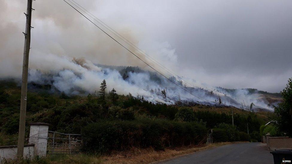 Fire at Slieve Gullion