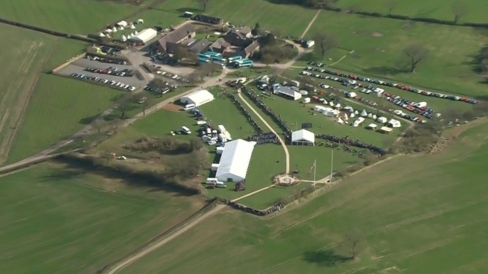 Bosworth Battlefield site from above