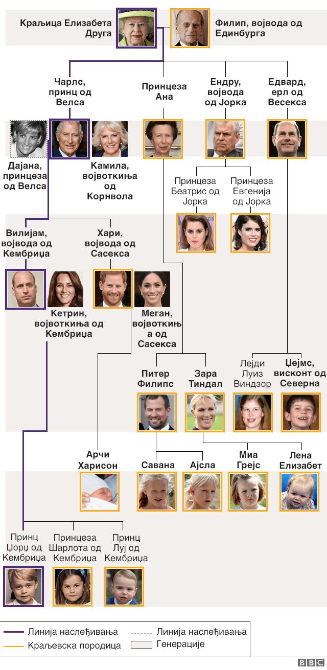 Kraljevska porodica porodično stablo
