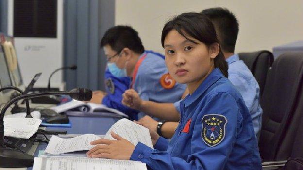 Zhou fue la comandante más joven en la misión de exploración lunar Chang'e-5.