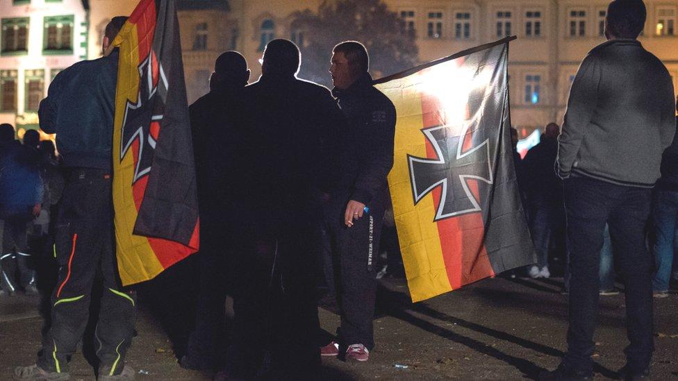 AfD supporters in Erfurt, Nov 2015