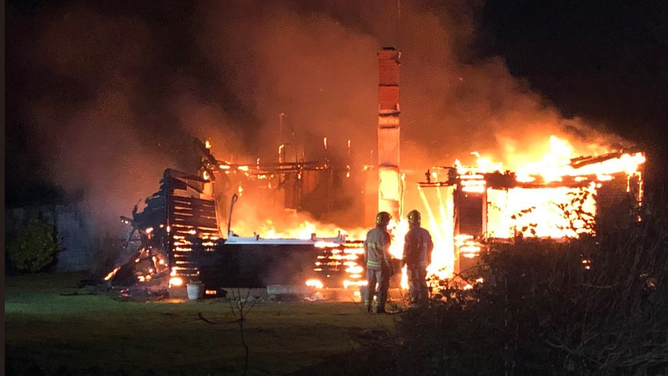 Body found after house engulfed in blaze on the Isle of Wight