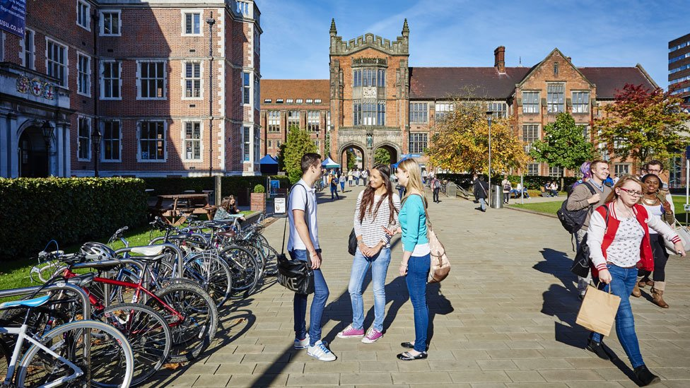 Library image of a small number of students at Newcastle University